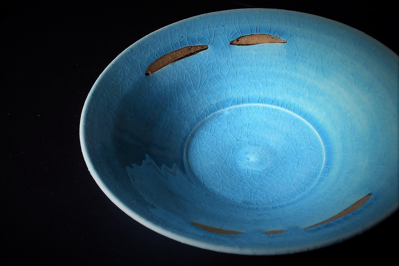 Picture of Kiyomizu ware turquoise plate