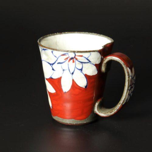 Image of Arita-ware_cup_Kohiki_Red